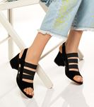 Desire Arkası Açık  Süet Ayakkabı Siyah