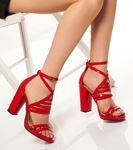 Berit  Rugan Ayakkabı Kırmızı