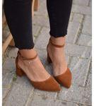 Lisa Topuklu Süet Ayakkabı Kahve